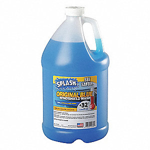 Windshield Washer, 1 gal., Plastic Bottle, Summer Blend, 32 Freezing Point (F)