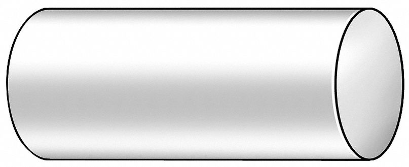 GRAINGER APPROVED Stainless Steel Rod Stock,SS,1 ft dia. L,3//16 in 87137