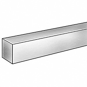 Blank Stock,Sq,304SS,1/4 Tx1/4 In W,6 ft