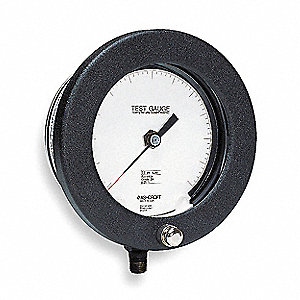 "6"" Test Pressure Gauge, 0 to 100 psi"