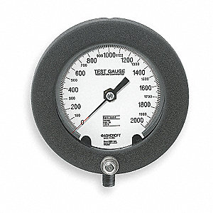 "6"" Test Pressure Gauge, 0 to 2000 psi"