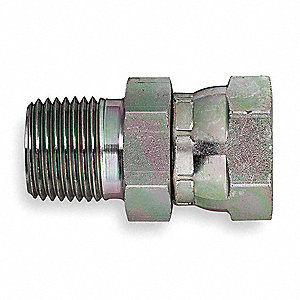Male NPT to Female NPSM Swivel Straight Hydraulic Hose Adapter