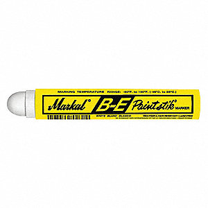 Paint Crayon,11/16 In.,White,PK12