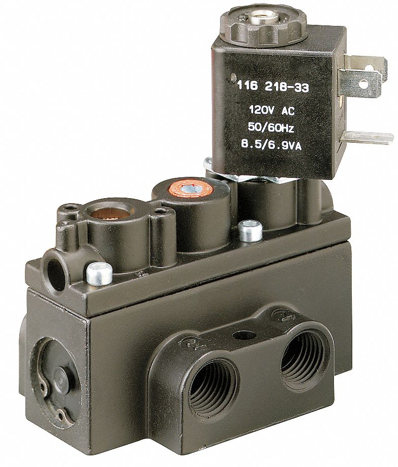 1/4 in 120V AC, 4-Way/2-PositionSolenoid Air Control Valve