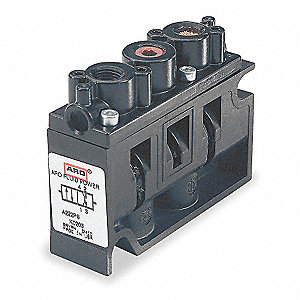 "1/4"" 12VDC 4-Way, 2-Position Solenoid Air Control Valve"