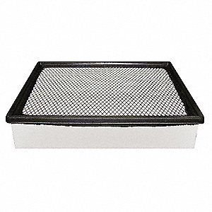 "Air Filter, Panel, 2-13/32"" Height, 12-3/16"" Length"