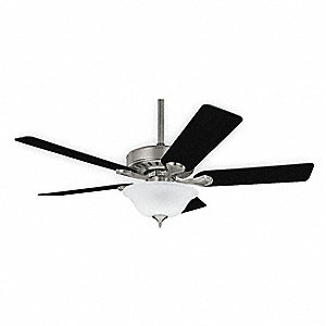 "Decorative Ceiling Fan, Dark Cherry/Medium Oak, 52"" Blade Dia."