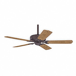 "Outdoor Decorative Ceiling Fan, Oak, 52"" Blade Dia."