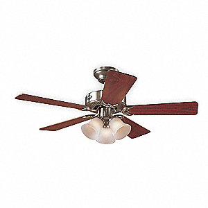 "Decorative Ceiling Fan, Maple/Cherry, 42"" Blade Dia."