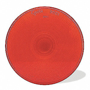 Round Replacement Lens, Red, Acrylic