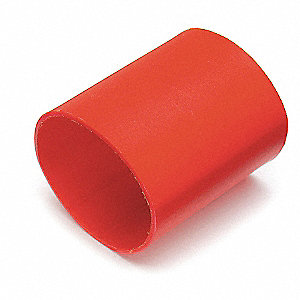 "Heat Shrink Tubing, Red, Shrink Ratio: 3:1, 1-1/2"" Length"
