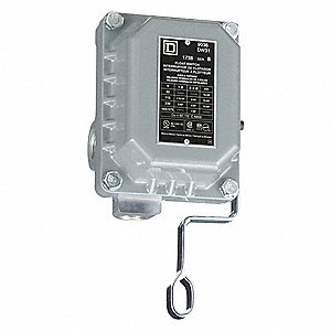 DPST 475VAC Open Liquid Level Switch, Close On Rise, NEMA Rating 4