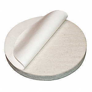 "Felt Disc, Adhesive Backing Type, 4"" Diameter"