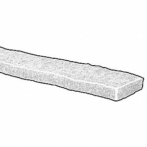FELT STRIP,POLY,1/2 IN T,1 X 120 IN