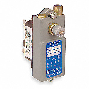 Rotary, No Lever General Purpose Limit Switch; Location: Side, Contact Form: 1NC/1NO, CW, CCW Moveme