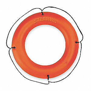 Ring Buoy,Orange,Polyethylene