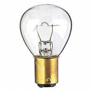 Trade Number 1196, 37 Watts Miniature Incandescent Bulb, RP11, Double Contact Bayonet (BA15d)
