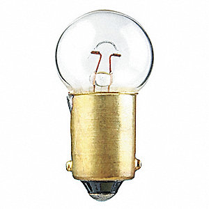 Trade Number 55, 3.0 Watts Miniature Incandescent Bulb, G4-1/2, Miniature Bayonet (BA9s)