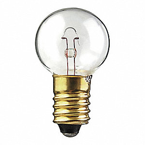 Trade Number 509K, 4.0 Watts Miniature Incandescent Bulb, G6, Candelabra Screw (E12)