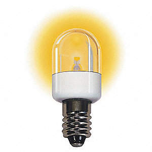 Trade Number LM2075CS-A, 0.7 Watts Miniature LED Bulb, T6, Candelabra Screw (E12), 75