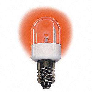 Trade Number LM2030CS-R, 0.7 Watts Miniature LED Bulb, T6, Candelabra Screw (E12), 30