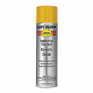High Performance Rust Preventative Spray Paint in Gloss Equipment Yellow for Metal, Steel, 15 oz.