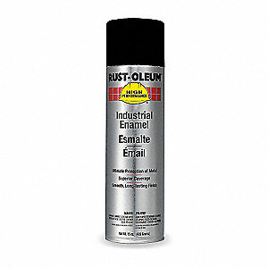 High Performance Rust Preventative Spray Paint in Flat Black for Metal, Steel, 15 oz.