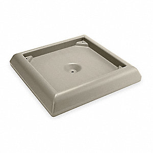 "Weighted Base,6""H x 24-1/2""W,Tan"