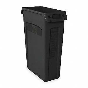 23 gal. Rectangular Black Utility Container