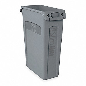 Utility Container,23 gal.,Gray