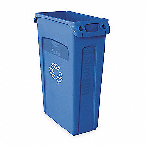 23 gal. Blue Utility Container, Open Top