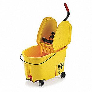 Rubbermaid Yellow Polypropylene Mop Bucket And Wringer 11