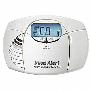 Carbon Monoxide Alarm with 85dB @ 10 ft., Chirp Audible Alert&#x3b; (2) AA