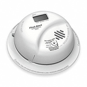"5-1/2"" Carbon Monoxide Alarm with 85dB @ 10 ft., Beep Audible Alert&#x3b; 120VAC, 9V"