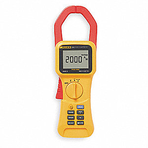 "Clamp On Digital Clamp Meter, 2-5/16"" Jaw Capacity, CAT IV 600V"