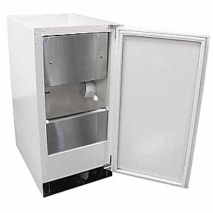 115V Square Undercounter Ice Machine, White, 30 lb.