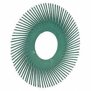 Radial Bristle Brush,T-A,6x1/2,50G,PK80