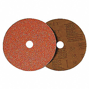 "4"" Coated Quick Change Disc, TR Roll-On/Off Type 3, 50, Coarse, Ceramic, 100 PK"