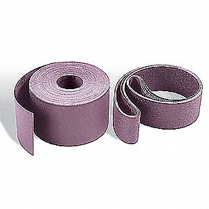 "Sanding Belt, 60"" Length, 37"" Width, Ceramic, 80 Grit, Medium, Coated, 970DZ, PK3"