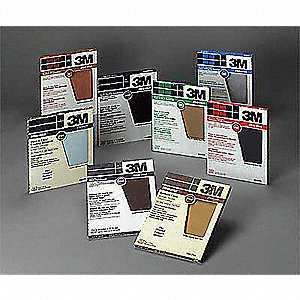 "Very Fine Silicon Carbide Sanding Sheet, 180 Grit, 11"" L X 9"" W, Backing Weight : C, 250 PK"