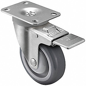 "4"" Plate Caster, 300 lb. Load Rating"