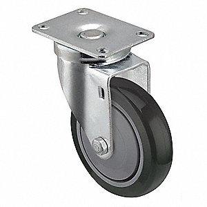 "6"" Light-Duty Swivel Plate Caster, 150 lb. Load Rating"
