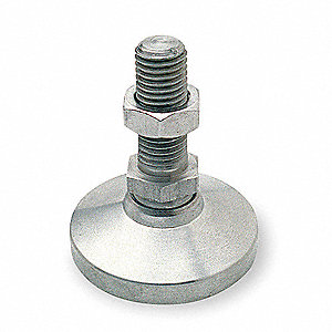 "Leveling Mount, Swiveling Stud, 20,000 lb. Load Capacity, 5-3/8"" Height, Stainless Steel"