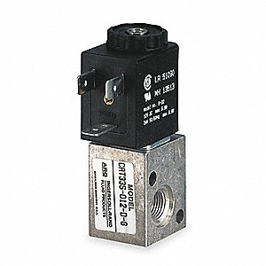 "1/8"" 12VDC 3-Way, 2-Position Solenoid Air Control Valve"