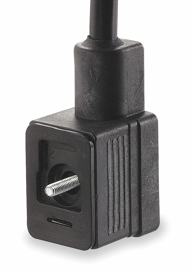 Solenoid Coil Connector with Molded Wire Lead Type