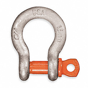 Anchor Shackle,Screw Pin,1000 lb.