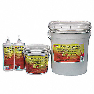Cable and Wire Pulling Lubricant, 5 gal  Pail, Water Chemical Base, White  Color