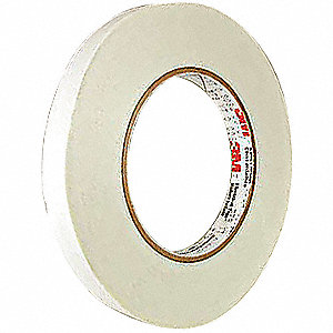 Cloth Tape,1 In x 60 yd,7 mil,White,PK36