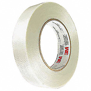 "Translucent Polyester Electrical Tape, 3/4"" Width, 180 ft. Length, 7 mil Thickness"