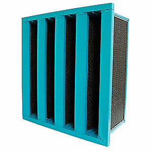 24x24x12 Fiberglass V-Bank Air Filter with MERV14 and 95% Filter Efficiency